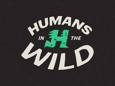 Wild Humans running vintage visual identity identity branding icon wilderness wild monogram