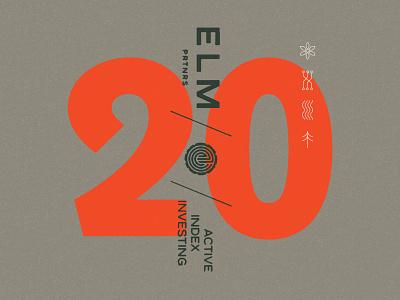 Elm Elements geometric texture philadelphia financial branding leaves illustration logo tree elm visual identity branding typography