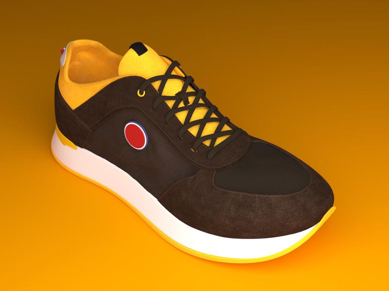3D shoe modeling and rendering blendercycles blender render modeling 3d design