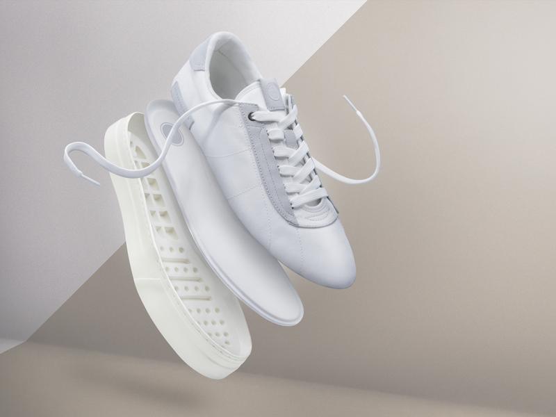 Photoshoot - White shoe adv emotional design industrialdesign product photography design