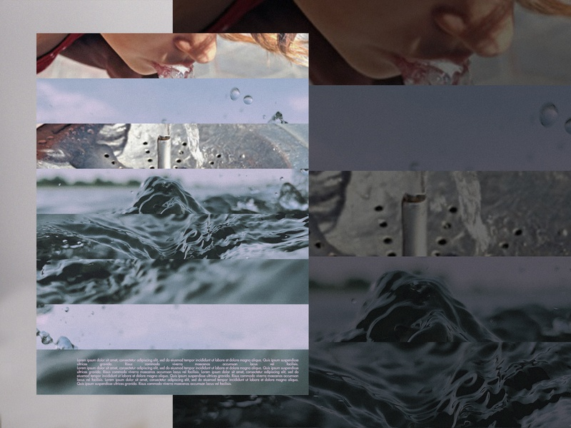 water conversion posterdesign poster photograhy composition layout digital art collage illustration
