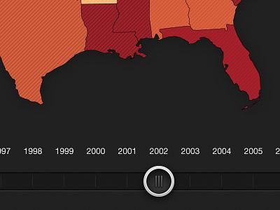 Slider illustrator map timeline