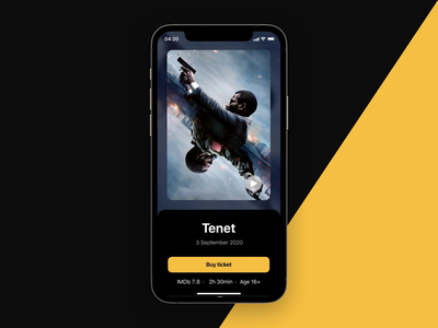 Buy a cinema ticket   Interaction animation product movie movie app cinema booking protopie interaction mobile ux ui ios app