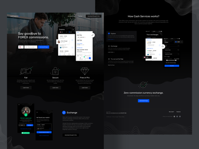 Currency Exchange LP ui design design illustration finance exchange wallet crypto crypto currency landing page desktop website landing currency exchange currency