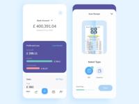 Personal finance app UI design