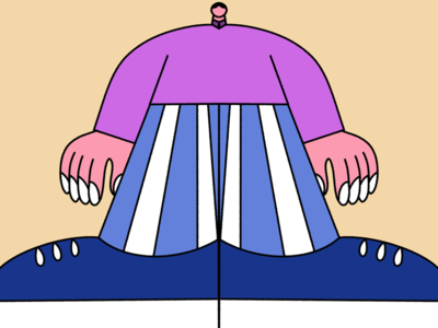 Man with striped pants