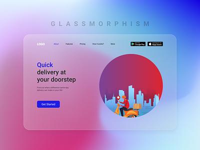 Glassmorphism UI Concept branding design uiux ui design ui