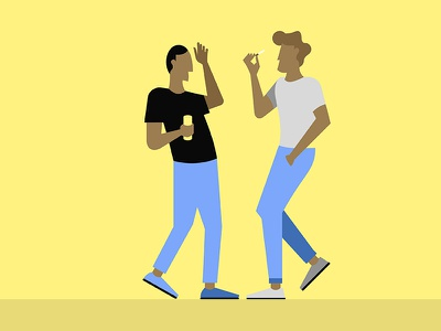 Dancing animation character design isaac claramunt design illustration motion graphics dancing