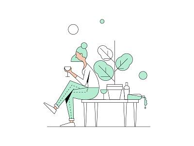 waiting character illustration design animation motion isaac claramunt