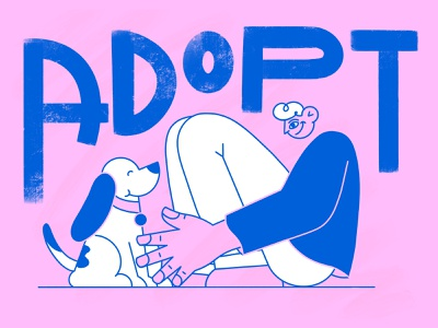 ADOPT! isaac claramunt animation ipadpro procreate character design ipad illustration characterdesign design character animals love hand hands boy guy kid pet adoption adopt