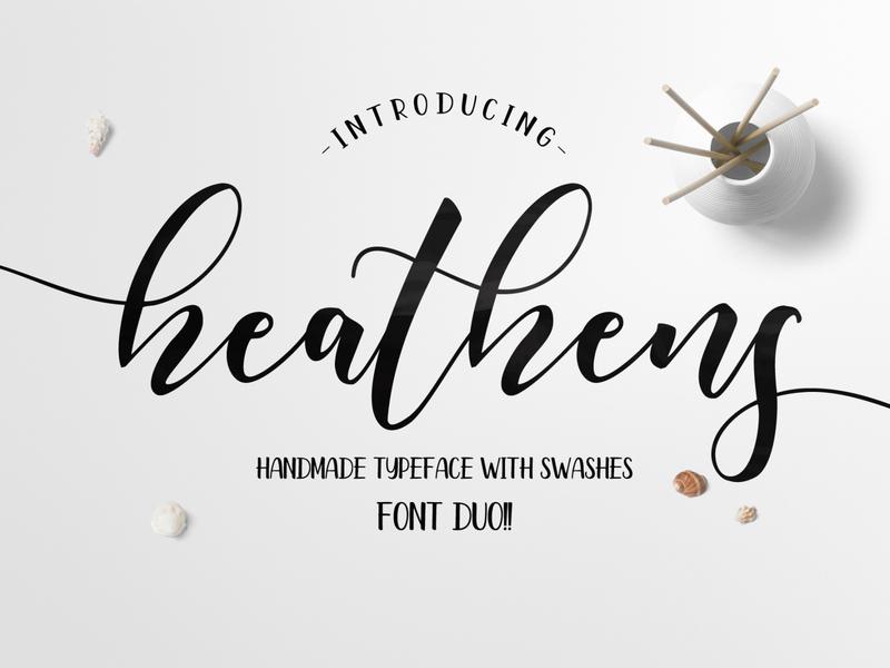 Heathens Script logotype vector website art illustration typography type modern calligraphy font modern calligraphy lettering