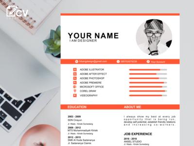 e Professional CV resume  design