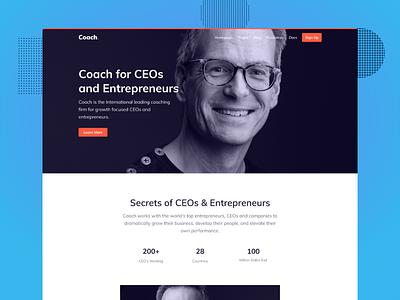 CEO Executive Coaching Bootstrap theme uikit webdesign podcast program homepage coaching courses uidesign uiux leadership motivationalspeaker coach theme coach business