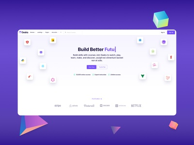 Academy Education Design Layout bootstrap ui kit online courses school landing page web education academy landing page design ux business uidesign uikit courses homepage webdesign