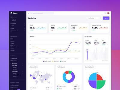 Analytics Admin dashboard   Web App Template dashboard design dashboard ui ux uidesign uikit webdesign