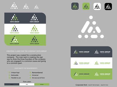 """Project """"VISTA GROUP"""" айдентика иллюстратор design vector фирменный стиль logo"""