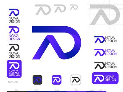"""Project""""NOVA DESIGN"""" branding дизайн айдентика брендинг фирменный стиль логотип"""
