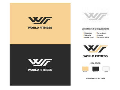 "Project""WORLD FITNESS"" typography айдентика illustration брендинг фирменный стиль logo"
