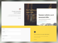 Attendable landing page
