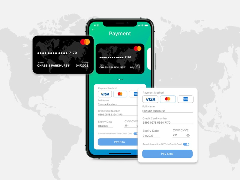 Credit Card Payment Page Prototype mobile app ui credit card checkout card payment ui dailyui 002 dailyui ui