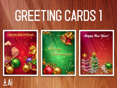 Greeting Cards 1 holiday bell present snow christmas template vector download free card greeting