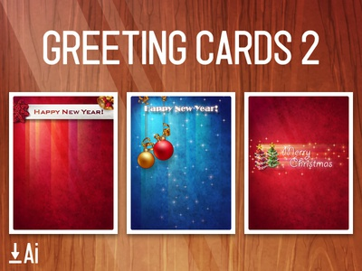 Greeting Cards 02 holiday bell present snow christmas template vector download free card greeting