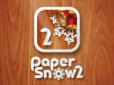 Paper Snow 2 Icon vector christmas greetings wood bell snowflake ios icon app game