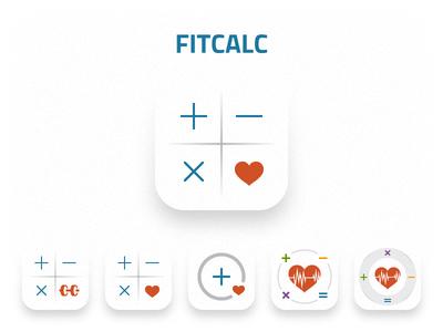 Fitcalc Icon fitness sport health heart calculator logo iphone ios app icon