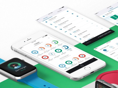 Goals pie chart chart goal ui design apple watch iphone ios app