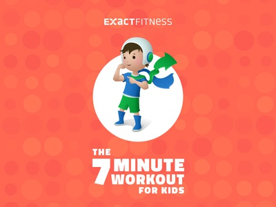7 Minute Workout For Kids character boy sport fitness splash design ipad iphone ios app
