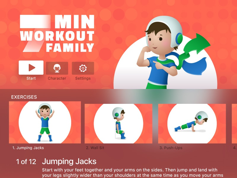 7 minute workout for kids tv