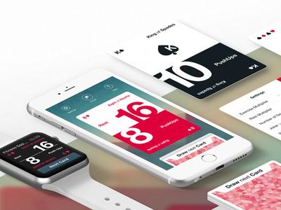 Fitness Spades sport fitness game spades deck cards ui design apple watch iphone ios app