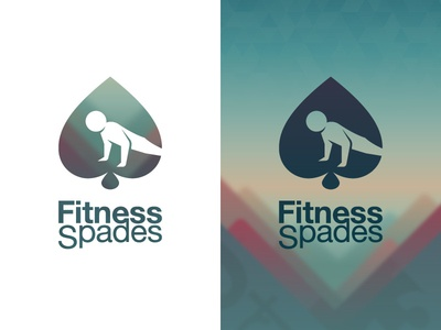 Fitness Spades Icon cards fitness sport push up push-ups spades logo game app icon