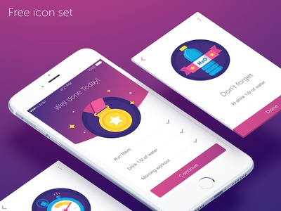 Sport Goals water sport prize medal icons freebies free badges achivement ui app