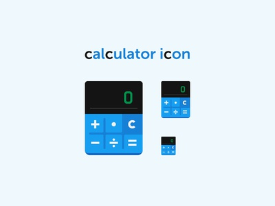 Calculator Icon flat counting count mathematics math accounting calculation calc calculator icon