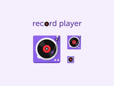 Vinyl Record Player Icon mp3 audio play turntable music record player record vinyl player icon