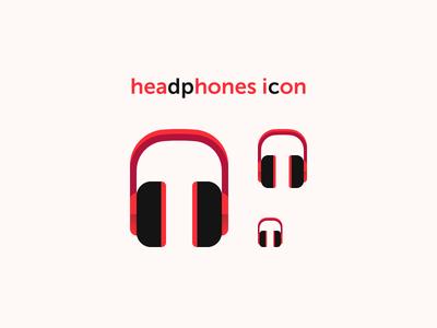 Headphones Icon sound listen headphones mp3 music audio icon