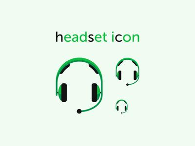 Headset Icon headphones headset talk listen support music audio icon