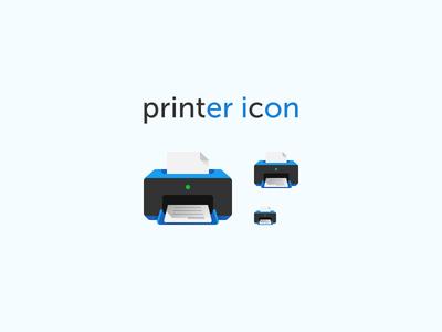 Printer Icon office document print printer flat icon
