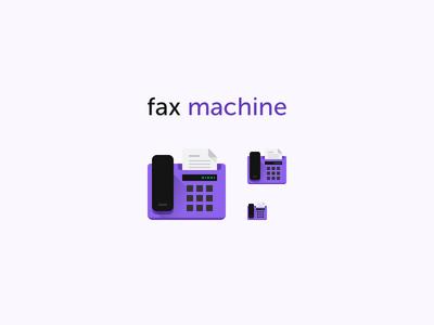 Fax Machine Icon copy contact message print document fax machine fax flat icon