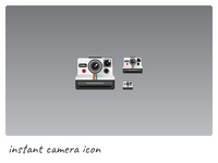 Instant Camera Icon photography hipster polaroid instant picture camera photo icon