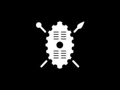 Cognative shield mountain biking cognative branding identity logo logomark zulu shield african mtb biking cog native