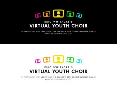Virtual Youth Choir futura typography identity branding logo eric whitacre virtual choir virtual youth choir
