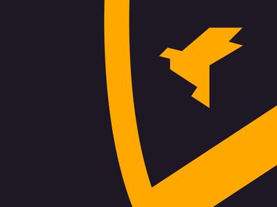 Toitoit crest detail toitoit logo identity branding origami shield bird crest logomark mark