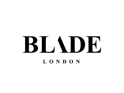Blade London blade logo identity typography branding wordmark logotype