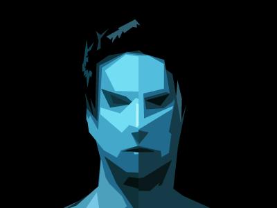 Cyborg self profile self cyborg bot head face vector illustration anonymous cutout digital trace