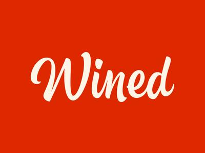 Wined wordmark wined typography logotype wordmark brand identity logo branding