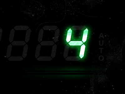 LCD ui vector glow interface photoshop digits numbers display lcd light scratched screen reflection