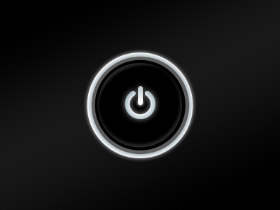 Monitor power button power button glow push photoshop vector ui monitor