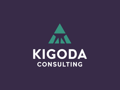 Kigoda logo triangle logomark wordmark branding identity logo
